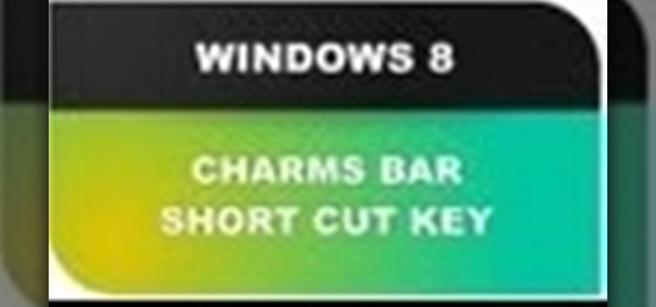 Use Windows 8 Charms Bar Shortcut