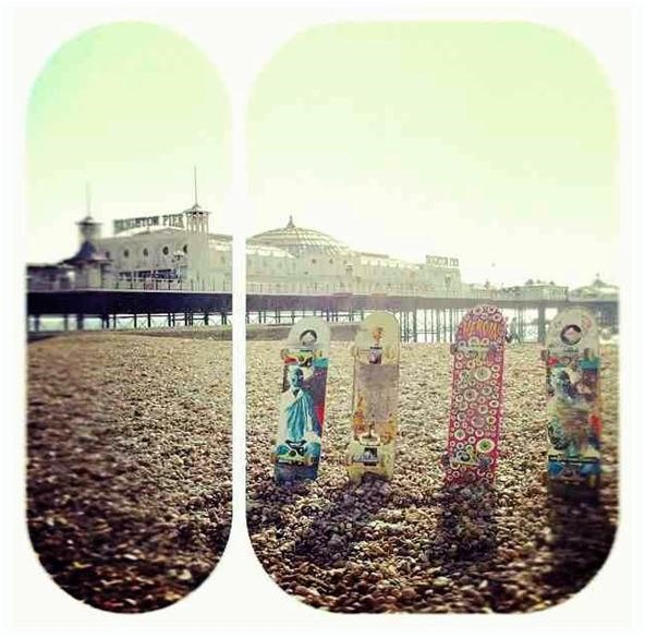 Toy Challenge: Skateboard Line Up on Brighton Beach...