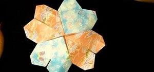 Fold an origami mandala heart