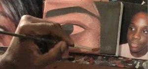 Paint  an eye in acrylic paint