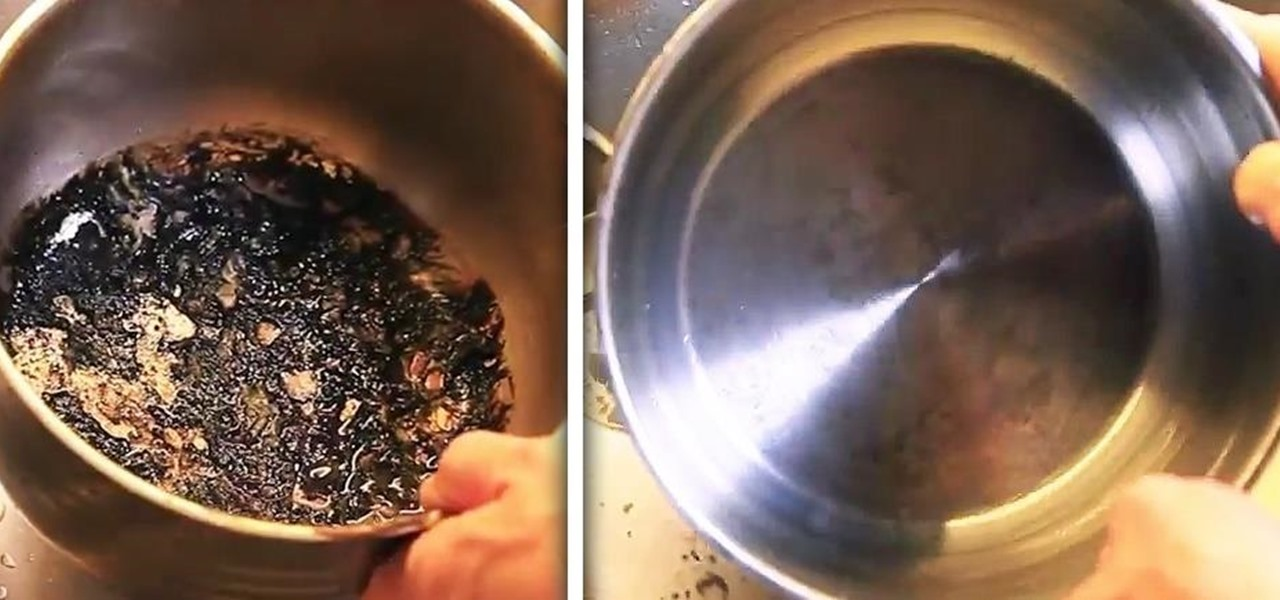 "Clean ""Uncleanable"" Scorched Spots from Pots & Pans"