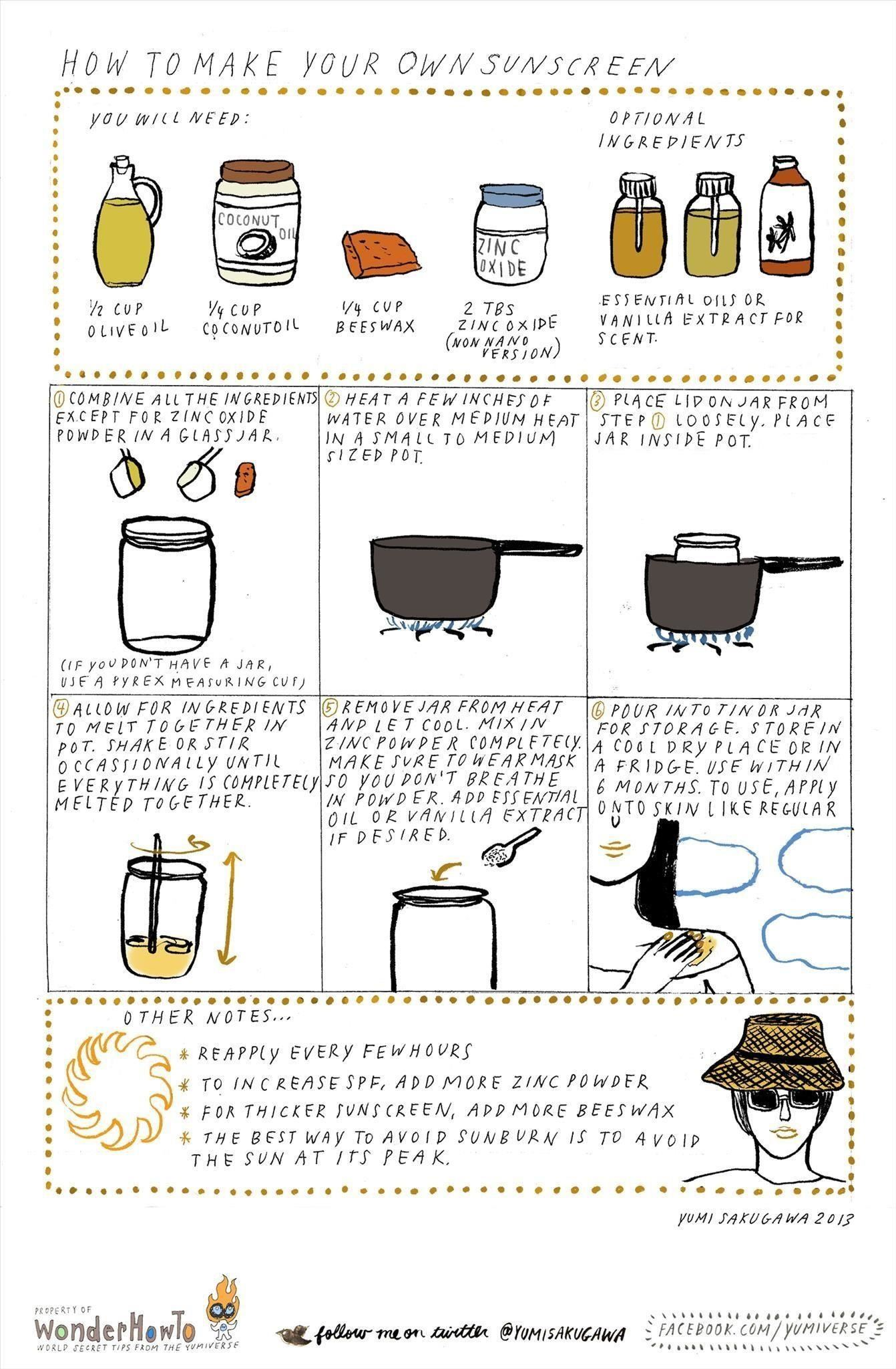 How to Make Your Own Non-Toxic Sunscreen at Home