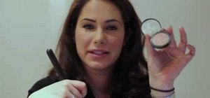 Create a simple makeup look styled after Megan Fox
