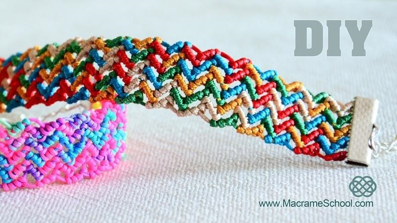 How to Make a Colorful ZigZag Wave Bracelet