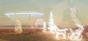 Christmas Lights & Desert Smoke
