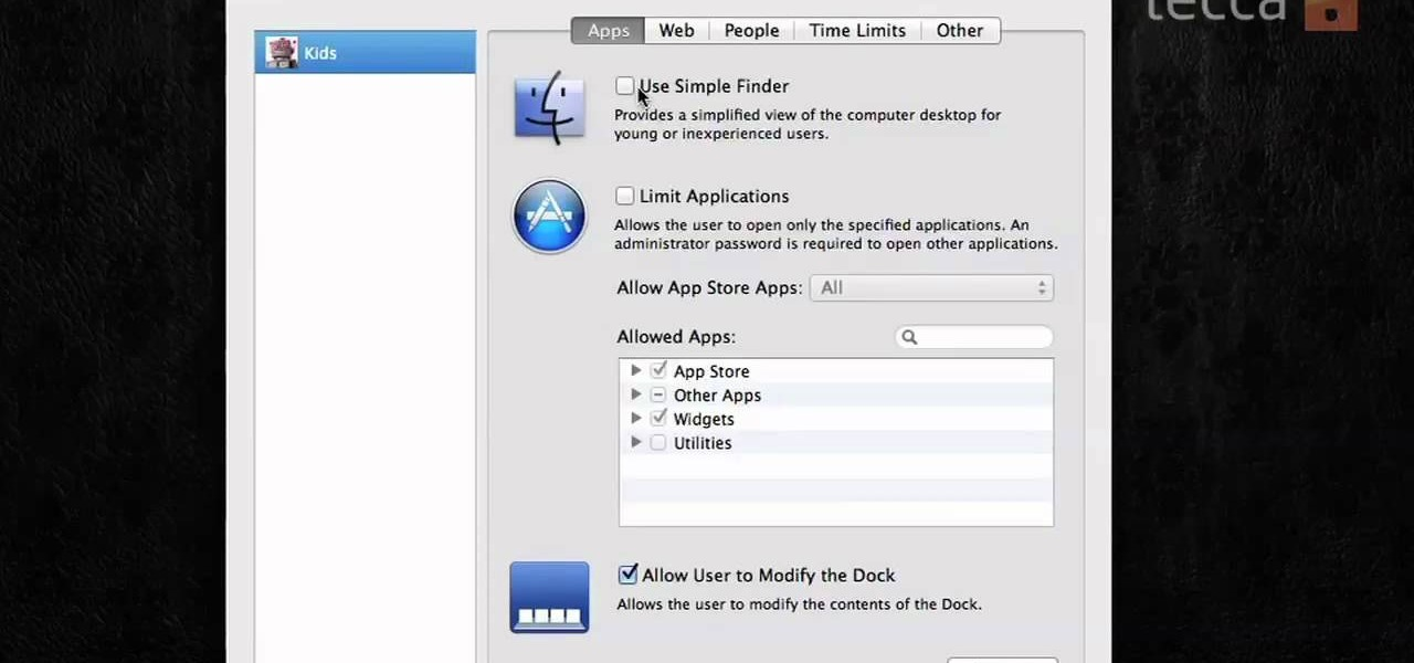 How to Turn on parental controls in Mac OS X « Operating ...