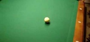 Do a trick pool break shot to win the game