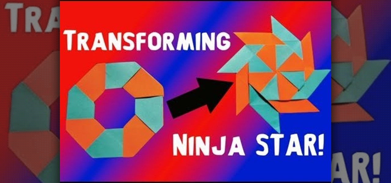 How to Fold a transforming eight pointed ninja star out of origami paper « Origami :: WonderHowTo