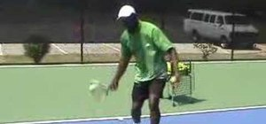 Use your forehand groundstroke while playing tennis