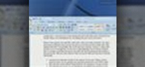 Customize a Watermark in Word 2007