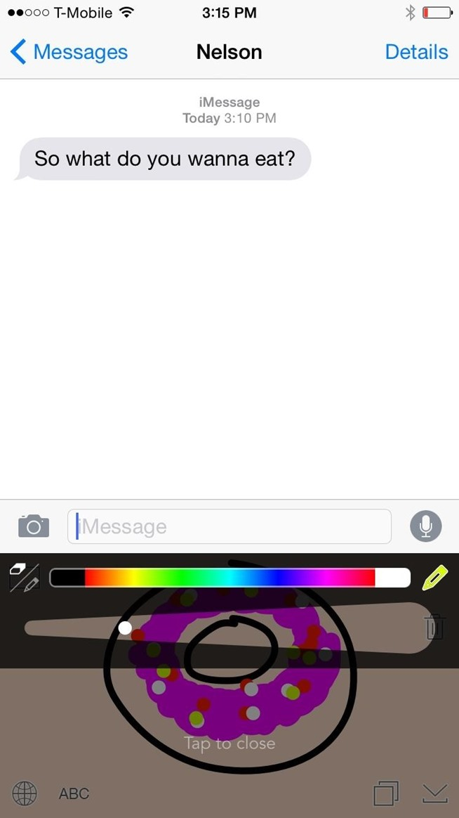 Draw Messages Instead of Typing Them Directly from the Keyboard on Your iPhone
