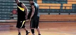 Reverse layup with Kobe Bryant