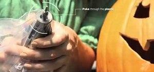 Keep a rotor Dremel tool clean when carving a pumpkin