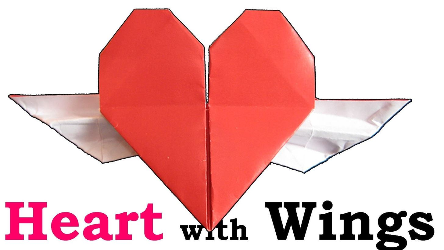 How to Fold an Origami Heart with Wings