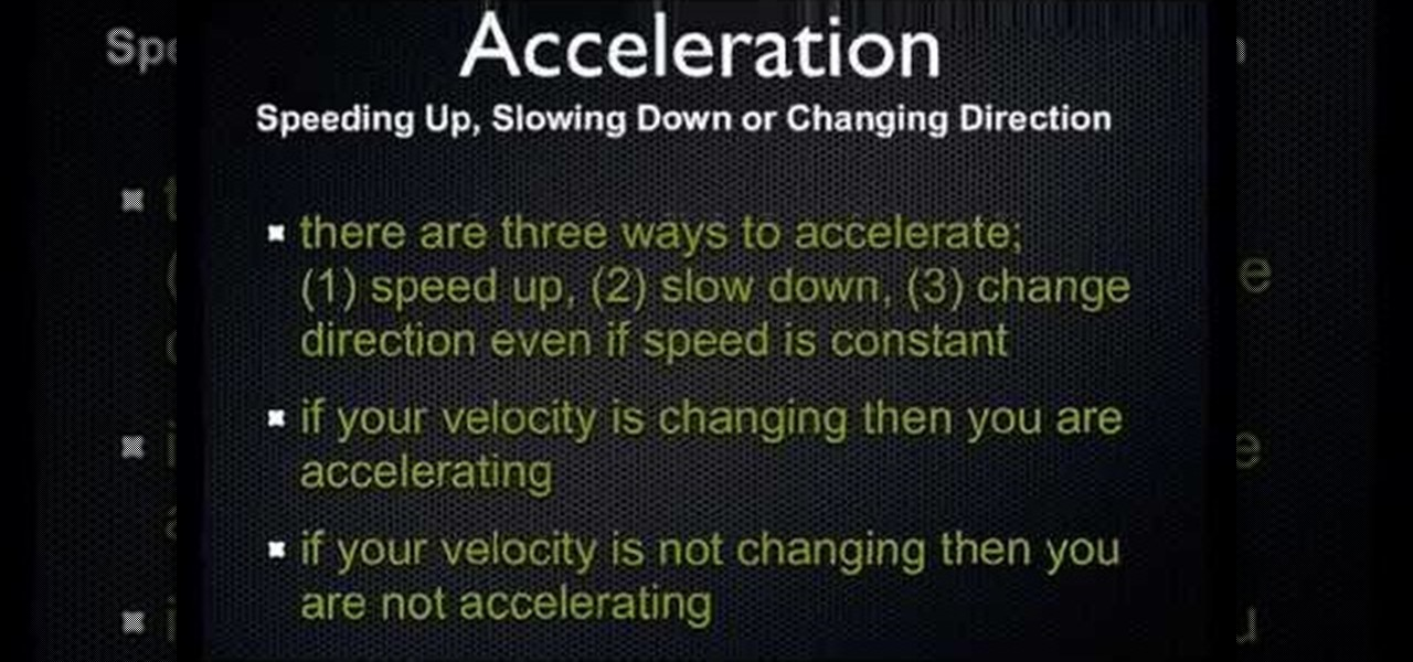 how to find the velocity of an acceleration