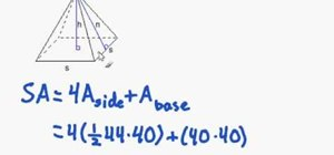 Find the surface area of a regular pyramid