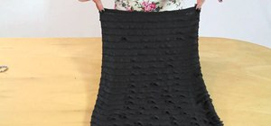 Sew a simple adorable ruffled black strapless dress with Gianny L