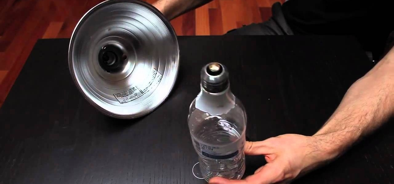 How to Change a broken lightbulb using a water bottle