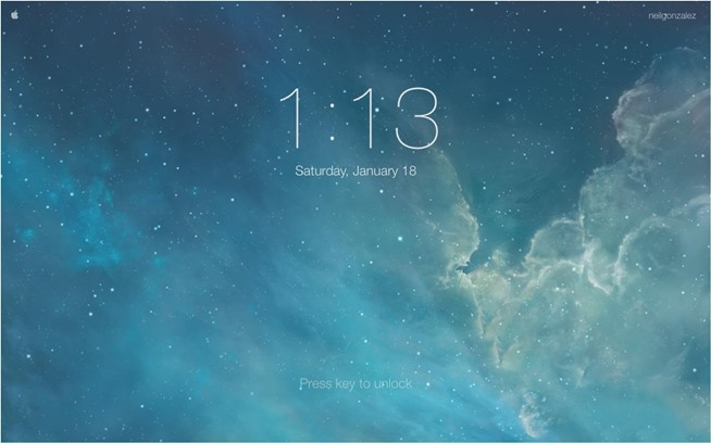 Mac Desktop Screen Lock Screen in Mac os x