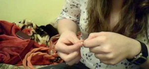 Make a tribal hemp bracelet