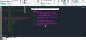 Create bulleted and numbered lists in AutoCAD 2011