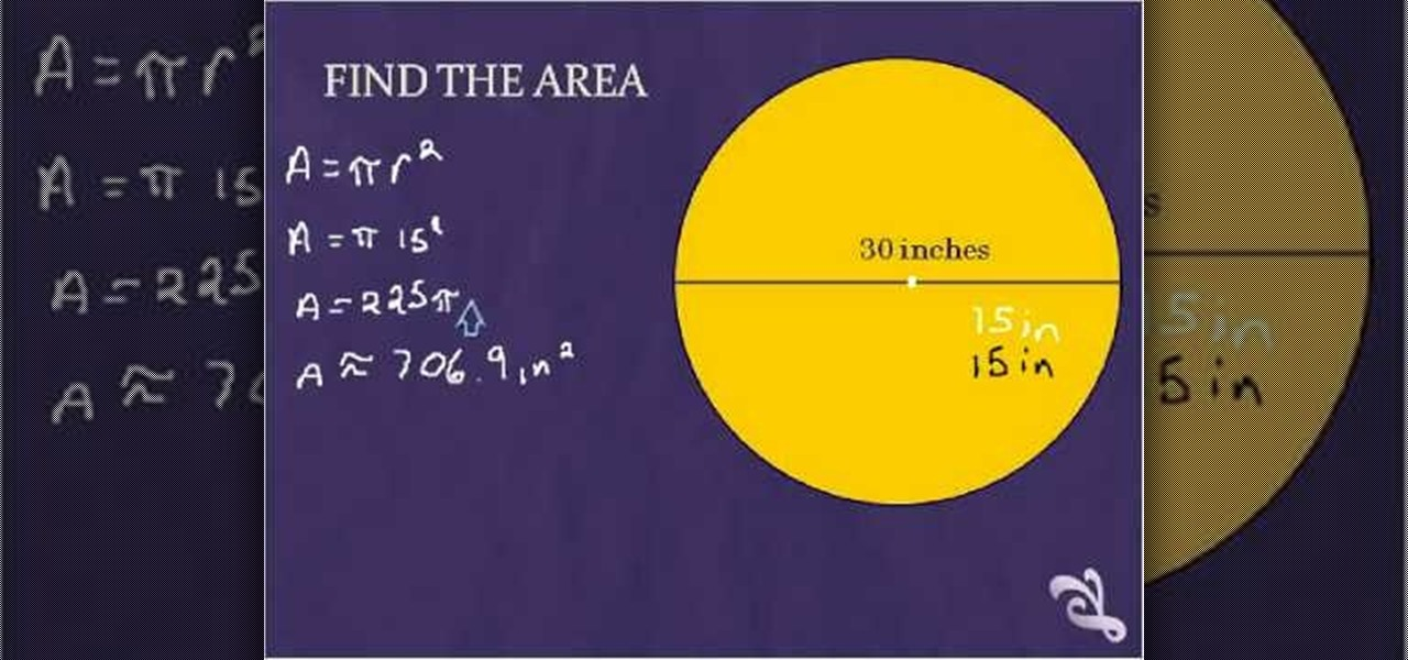 How To Calculate The Area Of A Circle Given The Radius Math