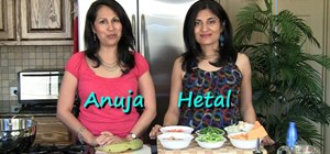 Make South Indian avial (vegetables with coconut and curry leaves)
