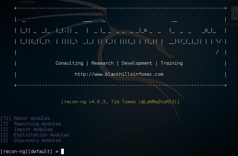 Hack Like a Pro: Reconnaissance with Recon-Ng, Part 1 (Getting Started)