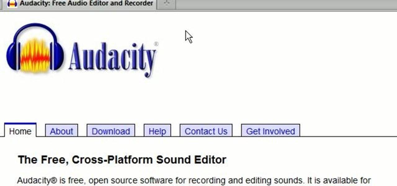 Audacity — a community for audio editors using audacity « Audacity