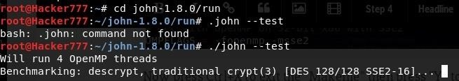 How to: Use Multiple Threads/CPUs While Cracking Passwords with John the Ripper (Free Version)