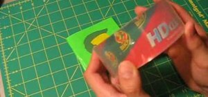 Use packing tape to seal duct tape art designs