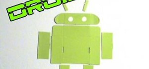Hack the HTC DROID ERIS smartphone's cardboard box into the Android Bot logo