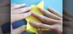 Make an easy origami jasmine flower napkin