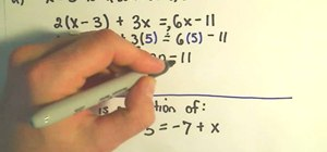 Solve linear equations in algebra