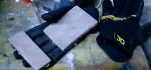 Make sliding gloves for skateboarding
