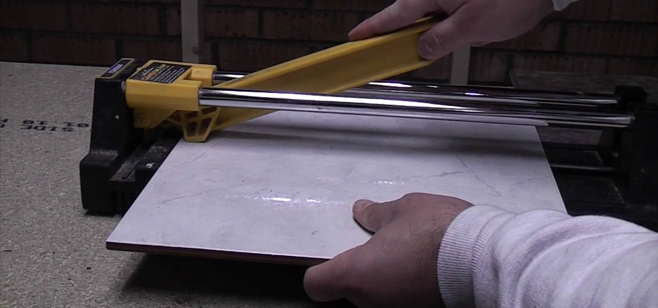 How To Cut Tiles With A Standard Tile Cutter Construction Repair