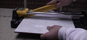 Cut tiles with a standard tile cutter