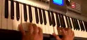 Play Latin salsa movements on the piano