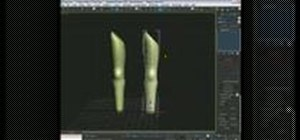 Use surface tools to model a human leg in 3DS Max