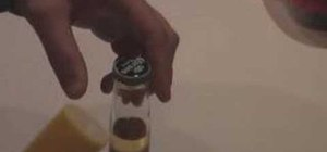 Open a beer bottle with BIC lighter
