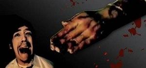 Make a blood filled fake hand