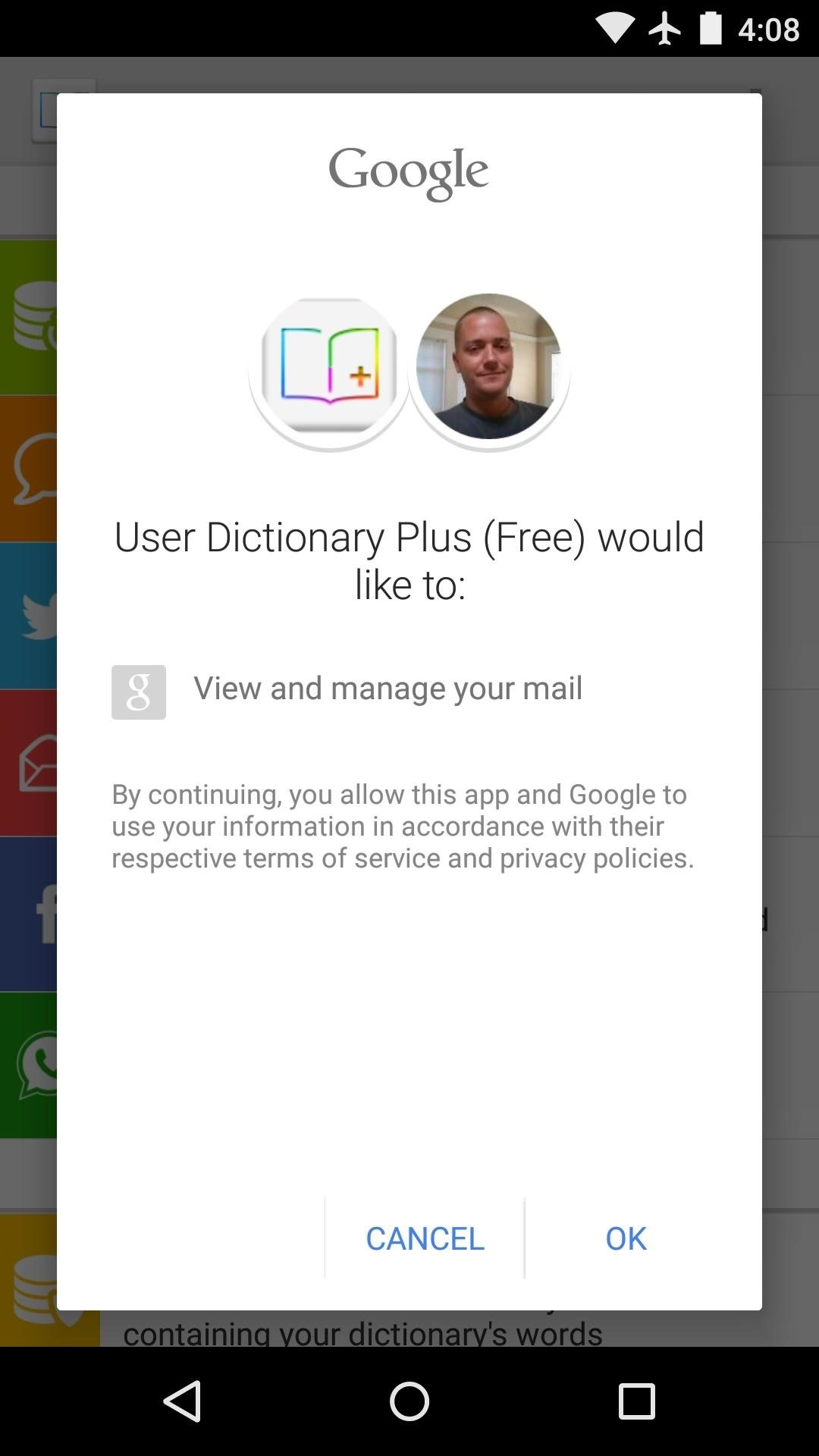 how to add dictionary to android