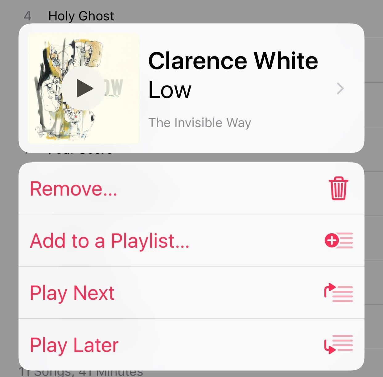 how to repeat a song on ios 10