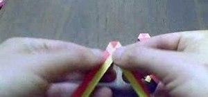 Weave paper strips