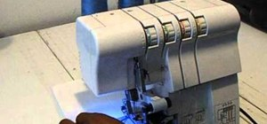 Change thread colors in a Singer Finishing Touch serger sewing machine