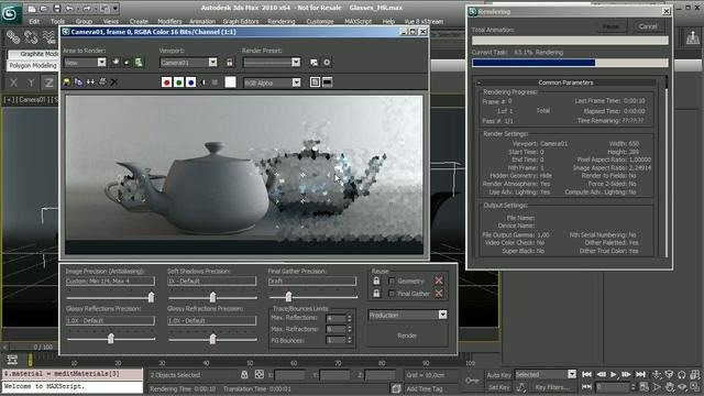 Create a frosted glass shader in Mental Ray