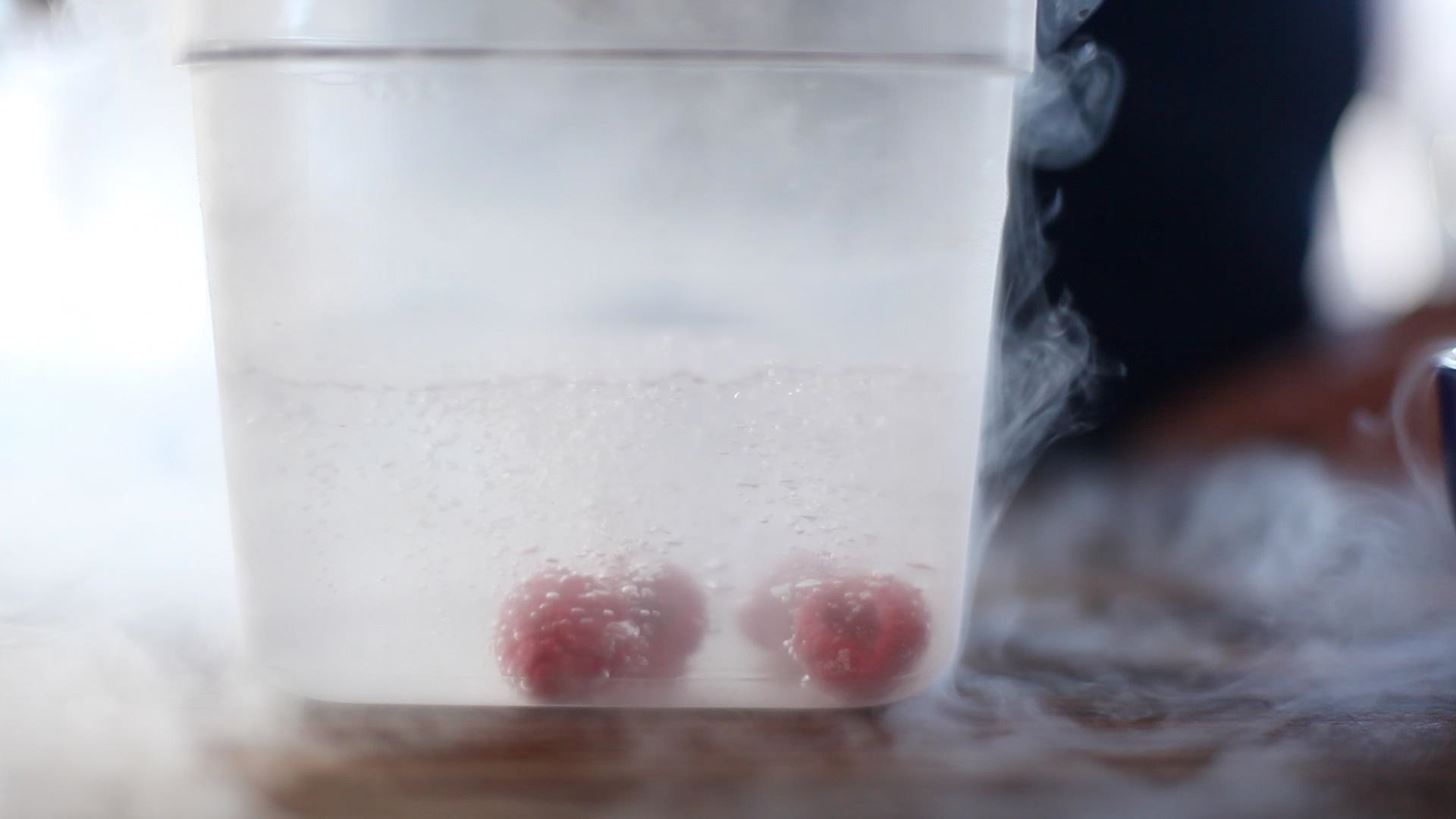 Molecular Gastronomy 101: How to Cryogenically Freeze & Shatter Berries