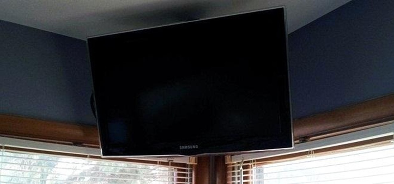 Build A Simple Flat Screen Tv Ceiling Mount From Unistrut And Pipe