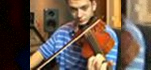 Play a B-flat major on the violin