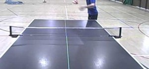 Serve to start a Ping Pong match